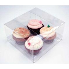 Standard Quad Cupcake Box