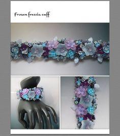 Frozen Freesia Embroidered Cuff