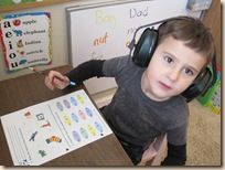 Ear protection for homeschooling peace. Yes! We do this, too.