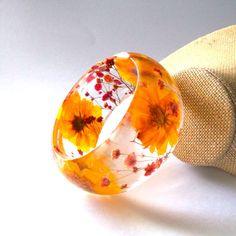 Flower resin bangle!