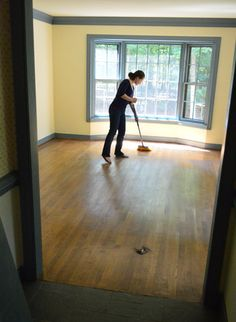 refresh wood floors without refinishing ~ after using two different products, the original pinner said Rejuvenate from Home Depot worked better and gave the high gloss results she wanted