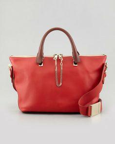 Chloé Baylee Medium Shoulder Bag, Red on shopstyle.com