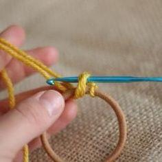 Crochet Embellished Hair Ties