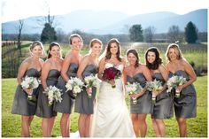 winter wedding | bridal party | bride and bridesmaids