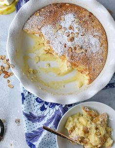lemon almond pudding