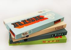 minimal redesigns of classic parker brother's board games