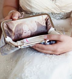 Really cool idea for the bride, you can also get a message embroidered inside.