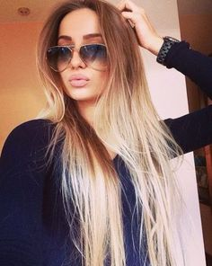Beautiful long ombre hair- I keep picking the warm base tones for you! I like the bleached out bottoms!
