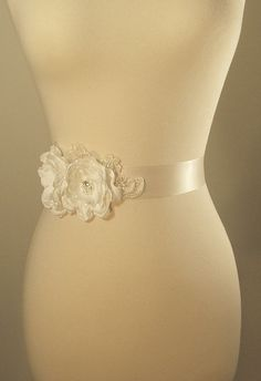 Ivory Bridal Sash Wedding Belt Pearl Bridal Sash by TheRedMagnolia, $110.00