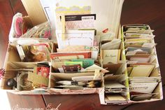 Living life creatively...: Project Life 2013. {+ Free printable Journal cards} organization with cardboard boxes
