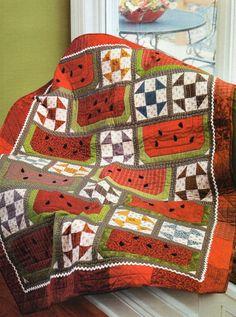 Watermelon & Shoofly Quilt Pattern Pieced/Applique TJ