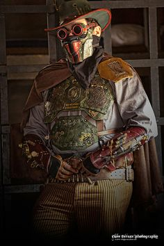Cowboy Steampunk (with mask and goggles).  via Russ Turner Photography