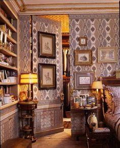 Howard Slatkin's NYC apt:  The bedroom closet is behind a jib door.
