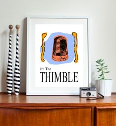Fun Monopoly art, thimble game piece office desks, the office, office art, mac os, prints, posters, appl, thing, shortcut