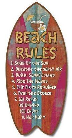 Beach rules...