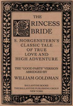 The princess bride by morgenstern