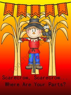 Scarecrow, Scarecrow Where Are Your Parts? from Everyday Adventures on TeachersNotebook.com -  (8 pages)  - Concept sort for facial features and body parts/clothing for special PreK students