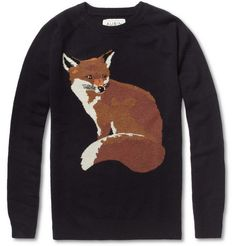 Aubin & Wills  Welimeadow Fox Intarsia Merino Wool Sweater
