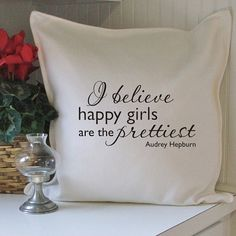 happy girls pillow cover