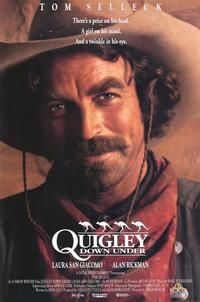 Quigley Down Under with Tom Selleck, Western Movie posters, prints and more. alan rickman, movi poster, favorit western, tom selleck, western movies, quigley, favorit movi, posters, poster prints