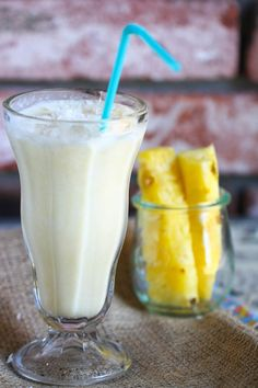 Pineapple Coconut Smoothie by Jenna Weber, pbs.org #Smoothie #Pineapple #Coconut #Healthy