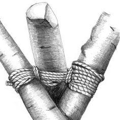 Knot techniques for making trellises