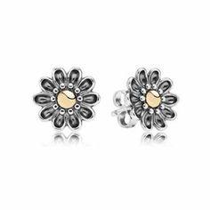 Pandora Oopsie Daisy Two-Tone Stud Earring Studs - Item 19415520   REEDS Jewelers