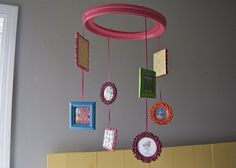 picture frame mobile with art work