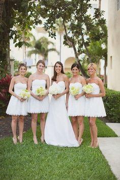 Now Trending: White Bridesmaid Dresses