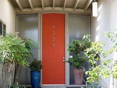 cool mid-century door