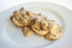 Biscuits and Sausage Gravy I Patent and the Pantry