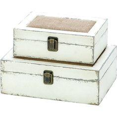 wood + burlap boxes - perfect for remotes! decor, burlap, trinket boxes, credenza, boxconstruct materi, weathered wood, wood boxes, box set, king lane