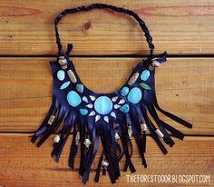 The Forest Door - a lifestyle, DIY, and design blog: Boho Fringe Statement Necklace DIY