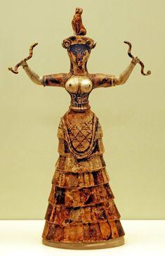 snake goddess, histori, 16th century, goddesses, art