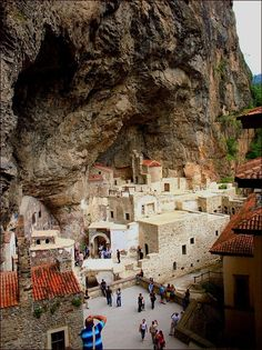 The Sümela Monastery, Turkey. It is a Greek Orthodox monastery, standing at the foot of a steep cliff, in the region of Macka in the Trabzon Province.