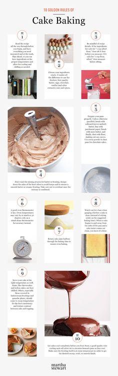 Martha Stewarts: 10 Golden Rules of Cake Baking