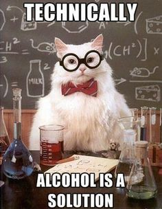 I know some people who would think this is funny! geek humor, science jokes, nerd jokes, pick up lines, chemistry humor, chemistry cat, cat jokes, chemistry jokes, cat memes