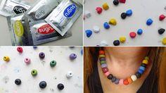 Make multicoloured sugru beads for jewellery