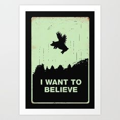 I Want to Believe Art Print by Budi Satria Kwan - $19.97