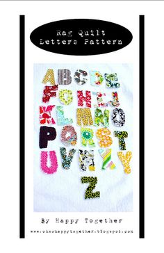 Fabric letter patterns - uppercase, lowercase, and numbers