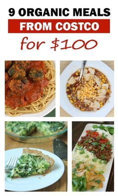 This Costco organic meal plan includes 9 meals using 5 different recipes with lots of ingredients leftover for additional meals!  Full recipes, printable grocery list, and more for FREE! | 5DollarDinners.com