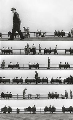Harold Feinstein - Sheet Music Montage, Coney Island 1950