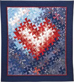 """Free Pattern form AQS by Jeri Auty. """"Tessellating Hearts."""" It even comes with the template to do the twist."""