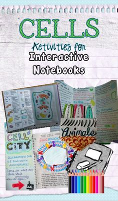 From teachers pay teachers interactive notebook activities for cells