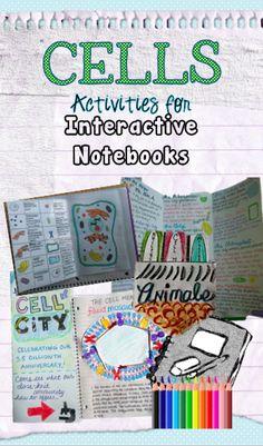 From teachers pay teachers interactive notebook activities for cells
