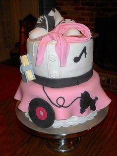 50's theme cake