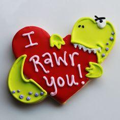 I Rawr You Dino Valentine Cookie Gift Box