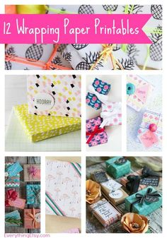 Free Printable Wrapping Paper {12 Great Designs} #packaging #printables