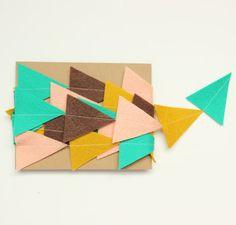 Filz Dreiecke garland von stephlovesben auf Etsy, $10.00