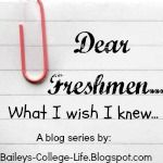 Bailey's College Life: Dear freshmen: Study tips